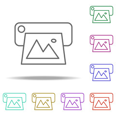 Printer icon. Elements of photography in multi color style icons. Simple icon for websites, web design, mobile app, info graphics