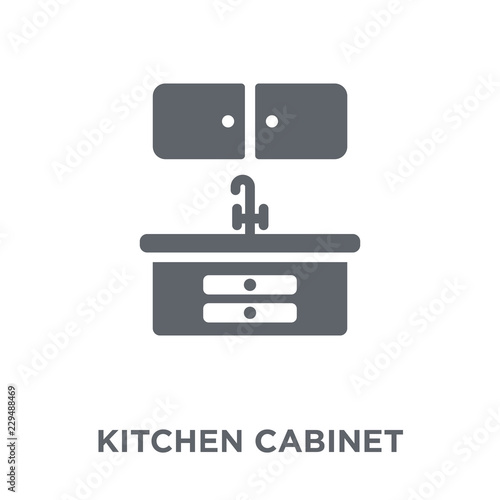 Kitchen Cabinet Icon From Kitchen Collection Stock Image And