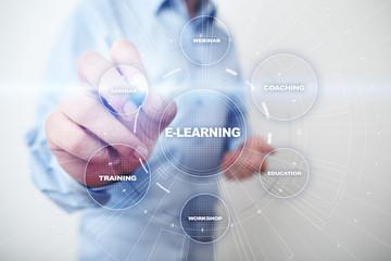 E-Learning Online education Training Webinar Personal Development Business Internet Technology Concept.