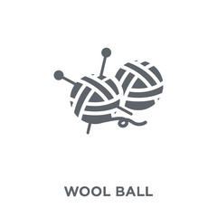 Wool ball icon from Sew collection.
