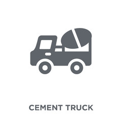 Cement truck icon from  collection.