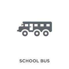 School bus icon from  collection.