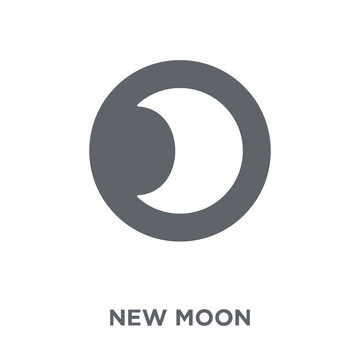 New moon icon from Weather collection.