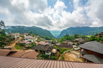 View of Pha Mee village in Chiang Rai, Thailand.