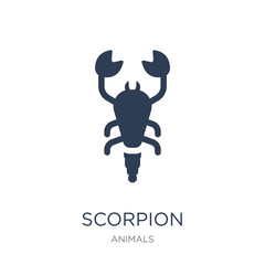 Scorpion icon. Trendy flat vector Scorpion icon on white background from animals collection