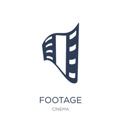 footage icon. Trendy flat vector footage icon on white background from Cinema collection