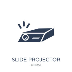 slide projector icon. Trendy flat vector slide projector icon on white background from Cinema collection