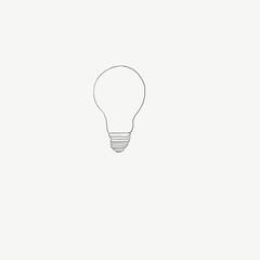 Light bulb doodle hand drawn vector eps 10