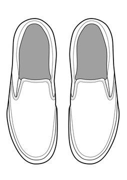 Slip-on shoes Illustrator vector template
