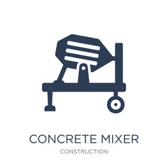 Concrete mixer icon. Trendy flat vector Concrete mixer icon on white background from Construction collection