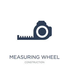 Measuring wheel icon. Trendy flat vector Measuring wheel icon on white background from Construction collection