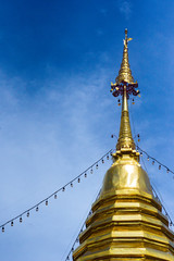 Golden pagoda and sky