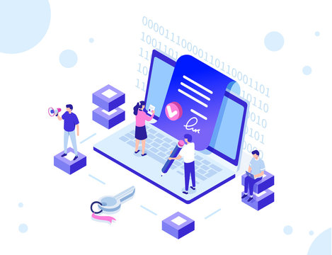 smart contract with characters