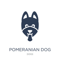 Pomeranian dog icon. Trendy flat vector Pomeranian dog icon on white background from dogs collection