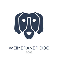 Weimeraner dog icon. Trendy flat vector Weimeraner dog icon on white background from dogs collection