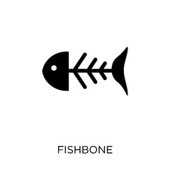 Fishbone icon. Fishbone symbol design from Museum collection.
