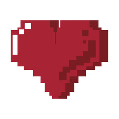 Videogame pixelated heart