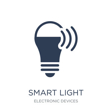 Smart light icon. Trendy flat vector Smart light icon on white b
