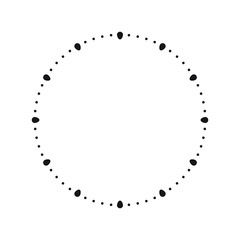 Clock face. Blank hour dial, vector illustration.
