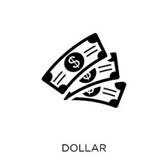 Dollar icon. Dollar symbol design from United states of america collection.