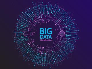 Big data visualization concept vector design.