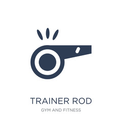 Trainer Rod icon. Trendy flat vector Trainer Rod icon on white background from Gym and fitness collection