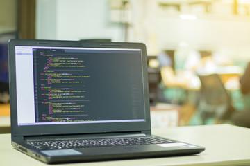 develop concept coding code program programming compute coder work write software. Blurry Codes.