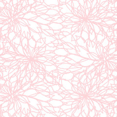 Leaves background vector. Hand drawn leaves shapes. Seamless abstract pattern.
