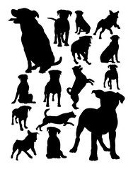 Rottweiler dog animal silhouette. Good use for symbol, logo, web icon, mascot, sign, or any design you want.
