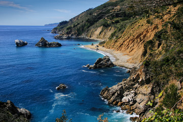 Scenic Highway coast line from Julia Pfeiffer viewpoint