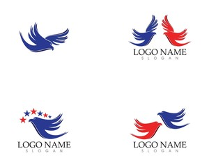 Falcon eagle wings logo vector