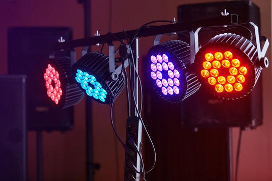 LED lighting equipment, LED forstage professional lighting device colored. Led lights for  disco