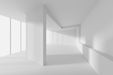 Creative Modern Industrial Concept. White Room with Window