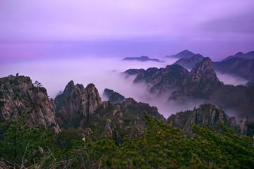 Famous Huangshan mountain (Yellow Mountain) in Anhui, China