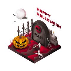 Halloween - Isometrie - Rot