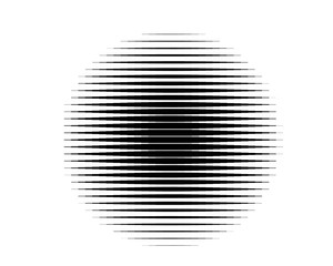 Black and white Line halftone pattern with gradient effect. Horizontal stripes. Vector illustration