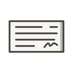 Cheque Ecommerce Filled Outline Icon