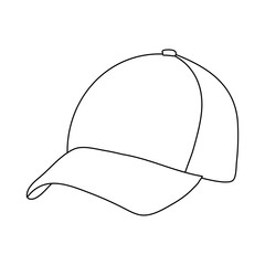 cap sketch, lines