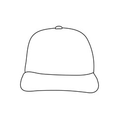 vector, on white background, cap sketch, lines