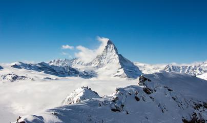 Poster Volcano Matterhorn Nebelmeer