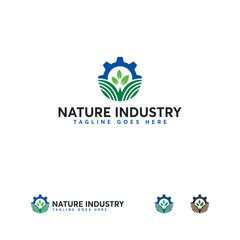 Agriculture Industry logo designs vector, Nature Industry Logo symbol