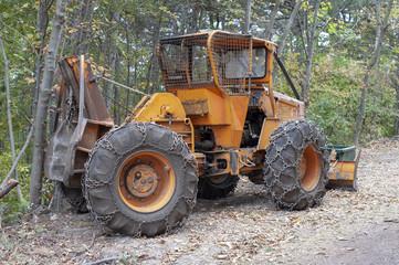 Bulldozer Waldarbeit