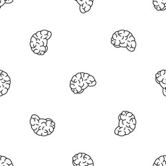 Thinking brain pattern seamless vector repeat geometric for any web design