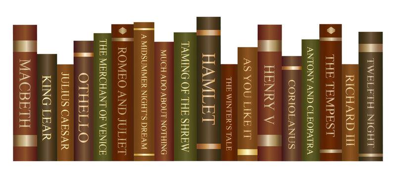 Row of books - William Shakespeare plays
