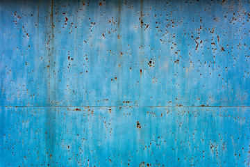 Rusty texture of metal blue plates