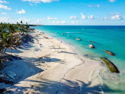 Drone Shot of Punta Cana - Bavaro Beach