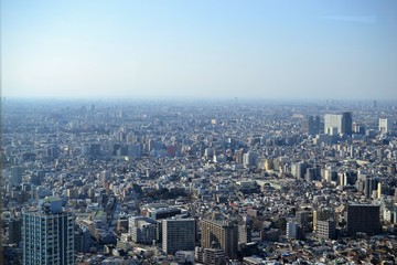 Tokyo, mega city from birdeye perspective, from above JAPAN