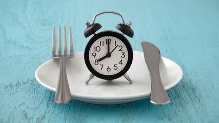 Fototapeta Intermittent fasting and meal planning concept obraz