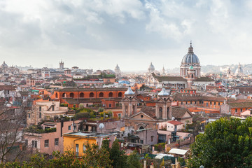Skyline of old Rome, Italy