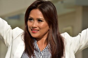 Beautiful Filipina Business Woman And Freedom